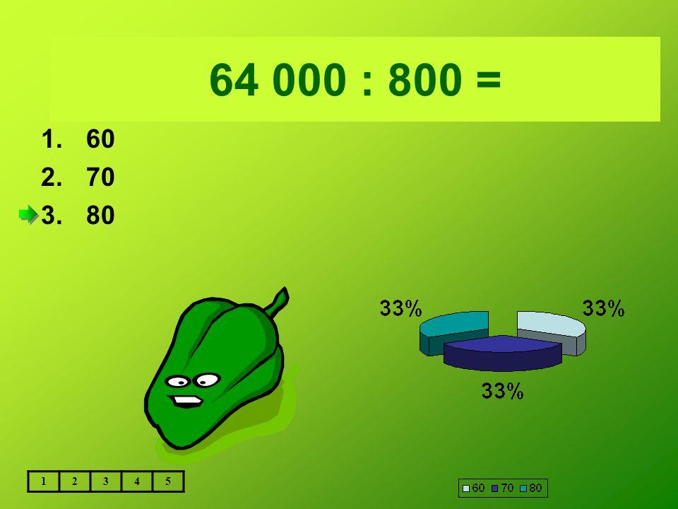 Vložte text otázky... 64 000 : 800 = 60 70 80 1 2 3 4 5