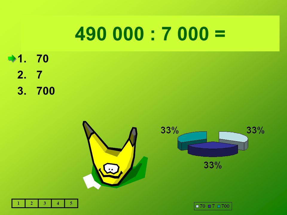 Vložte text otázky... 490 000 : 7 000 = 70 7 700 1 2 3 4 5