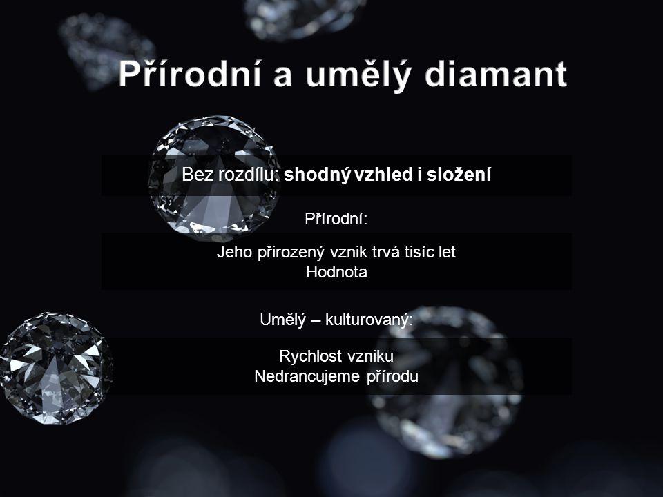 Přírodní a umělý diamant