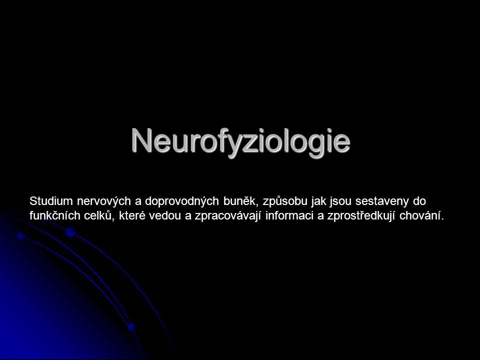 Neurofyziologie Studium nervových a doprovodných buněk, způsobu jak jsou sestaveny do.