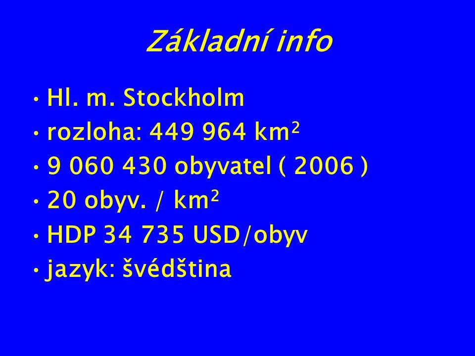 Základní info Hl. m. Stockholm rozloha: 449 964 km2