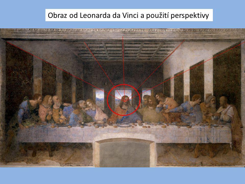 Obraz od Leonarda da Vinci a použití perspektivy