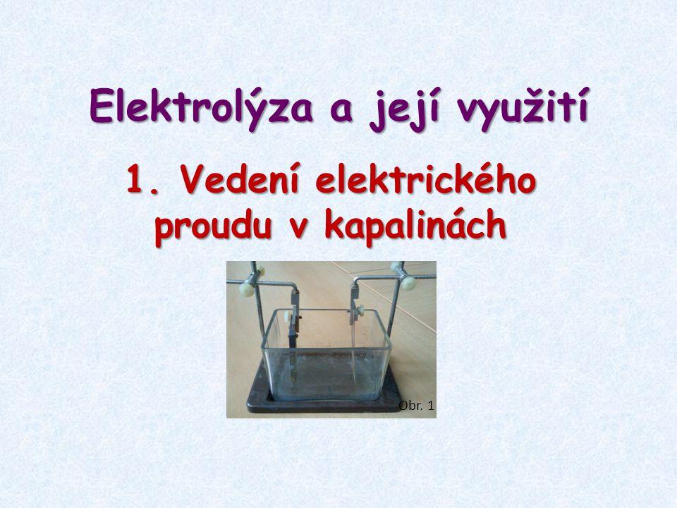 Elektrolýza a její využití