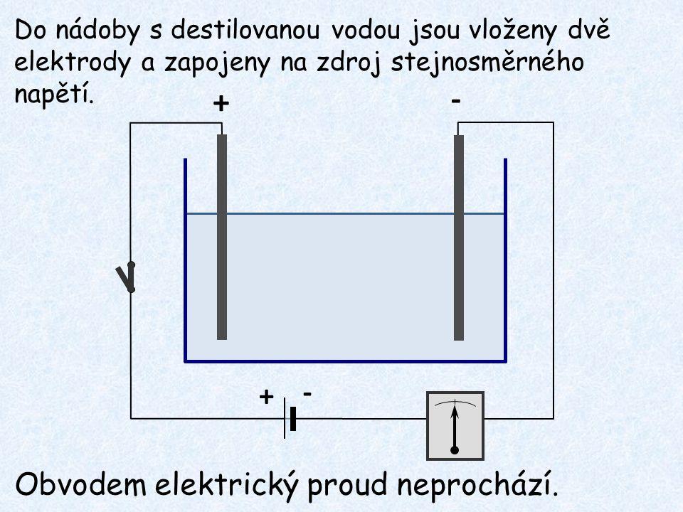 - + - + Obvodem elektrický proud neprochází.