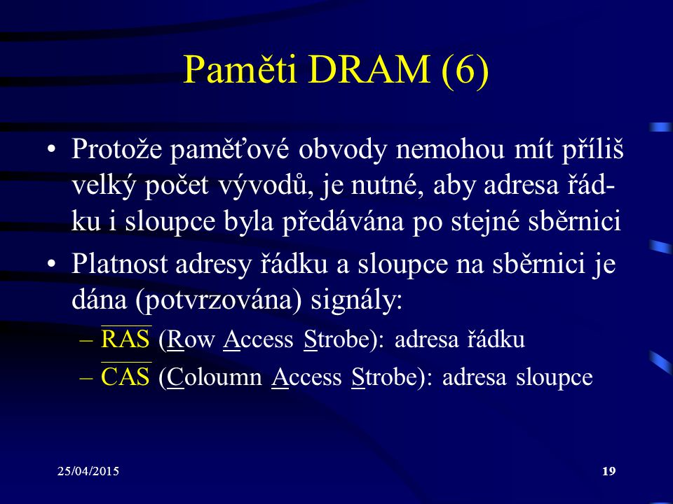 Paměti DRAM (6)