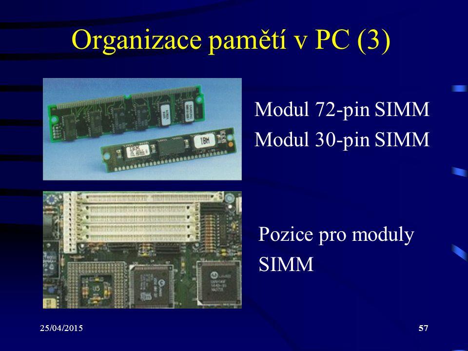 Organizace pamětí v PC (3)