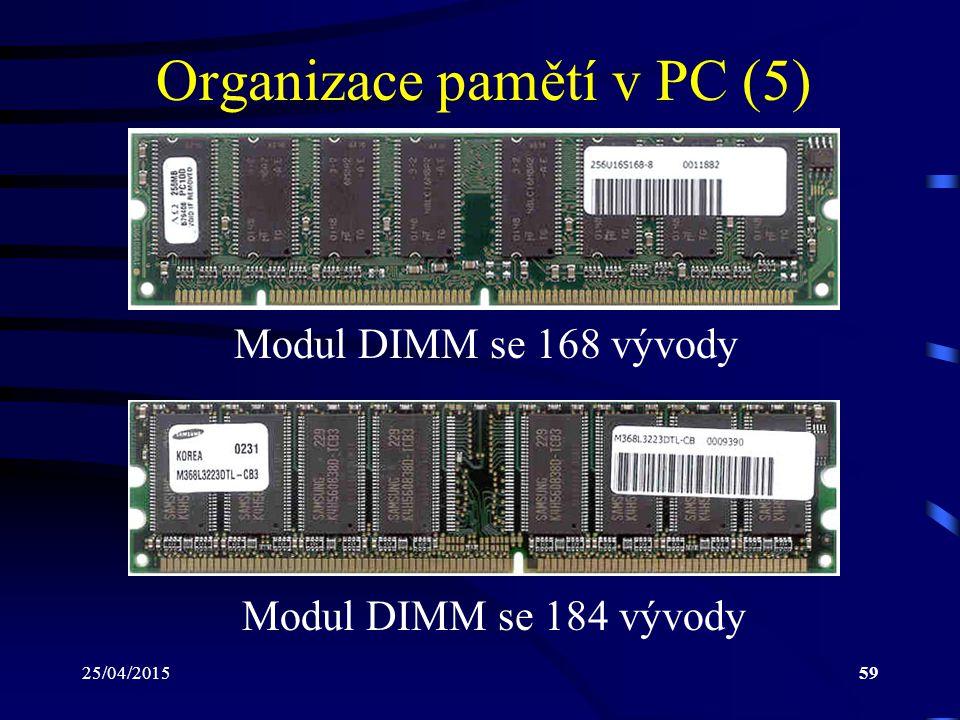 Organizace pamětí v PC (5)