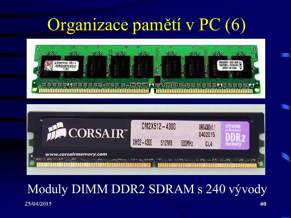 Organizace pamětí v PC (6)