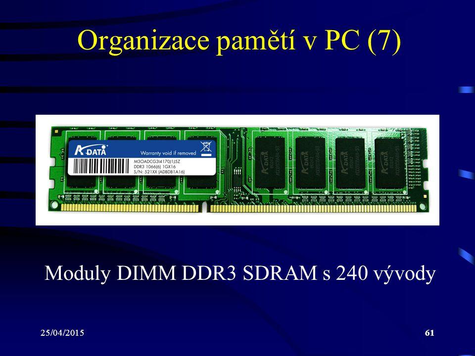Organizace pamětí v PC (7)