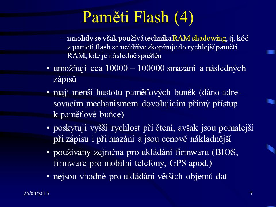 Paměti Flash (4)