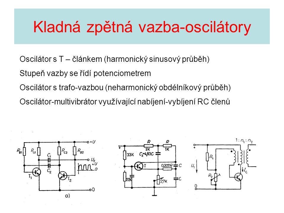 Kladná zpětná vazba-oscilátory