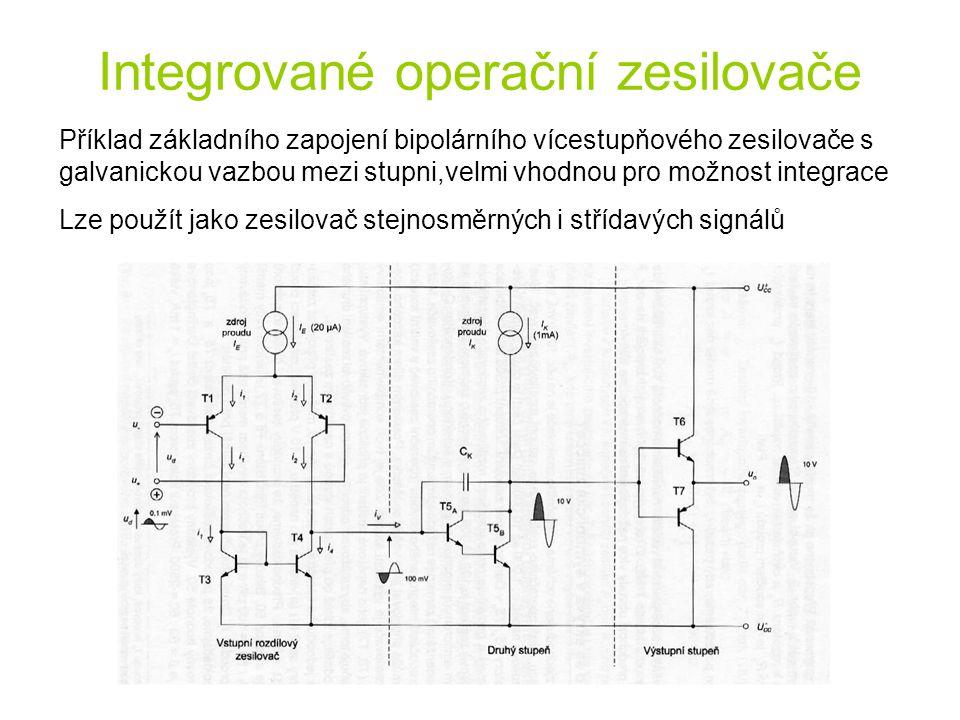 Integrované operační zesilovače