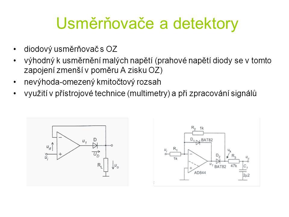 Usměrňovače a detektory