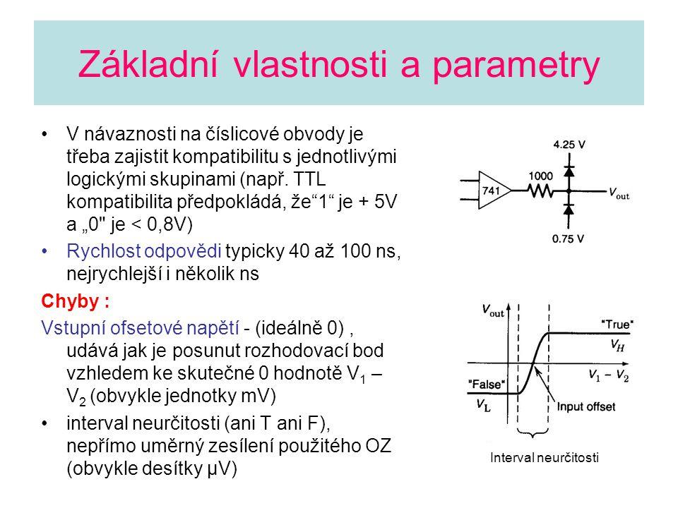 Základní vlastnosti a parametry