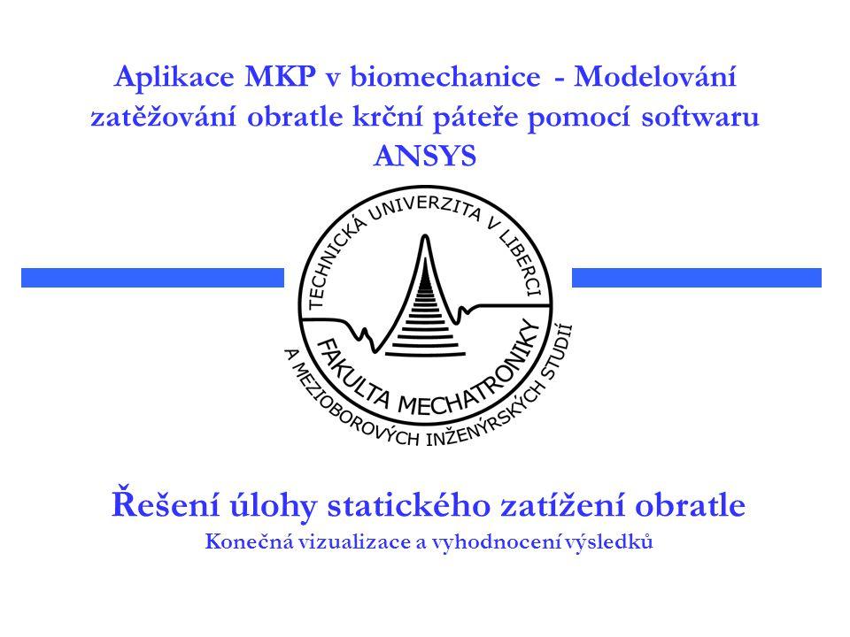 Aplikace MKP v biomechanice - Modelování zatěžování obratle krční páteře pomocí softwaru ANSYS