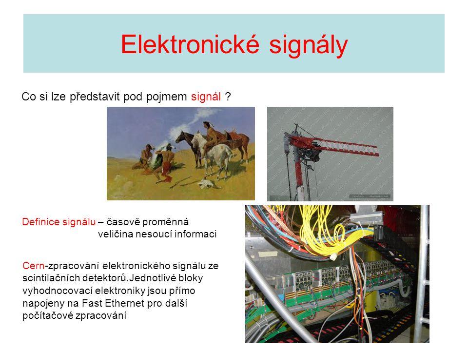 Elektronické signály Co si lze představit pod pojmem signál