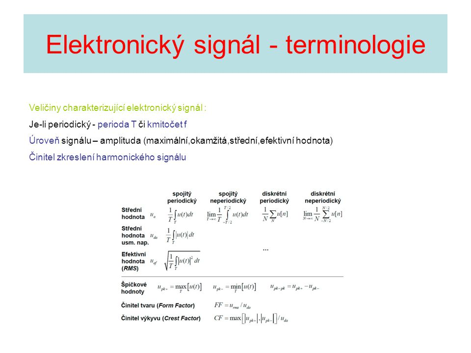 Elektronický signál - terminologie