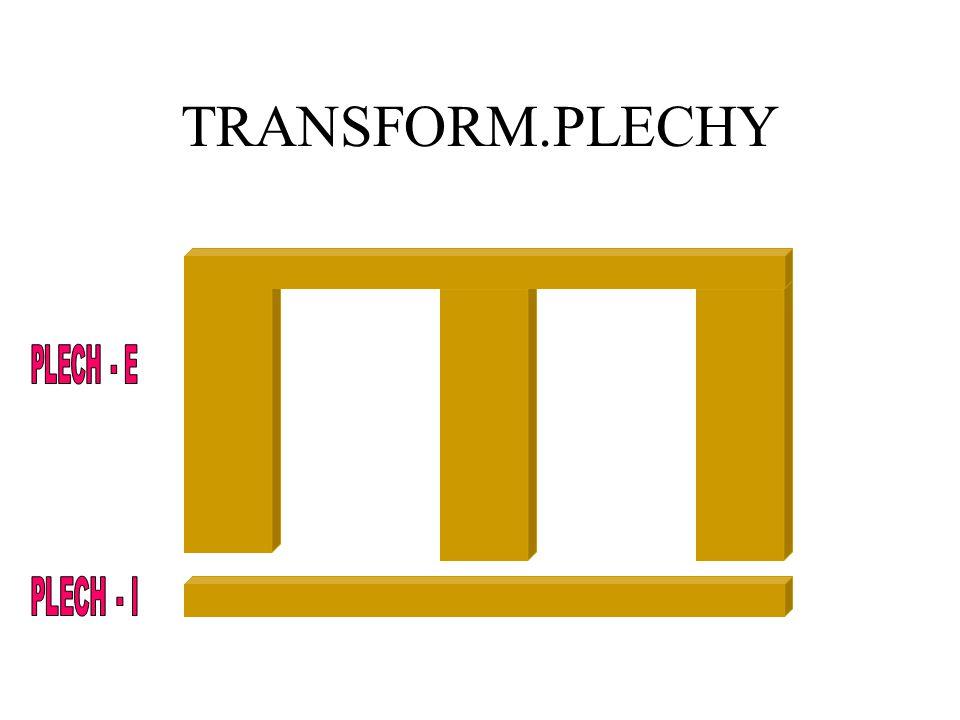 TRANSFORM.PLECHY PLECH - E PLECH - I