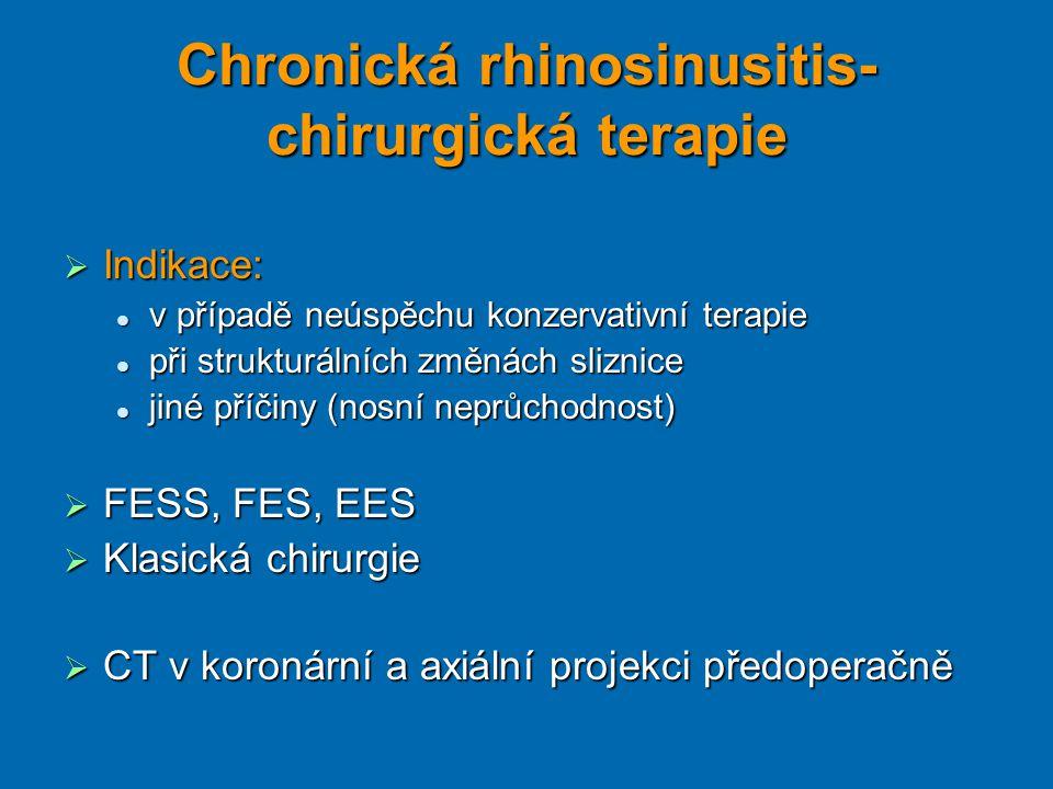 Chronická rhinosinusitis- chirurgická terapie