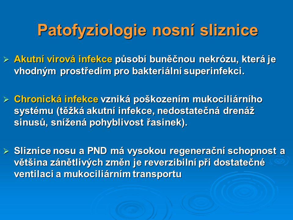 Patofyziologie nosní sliznice