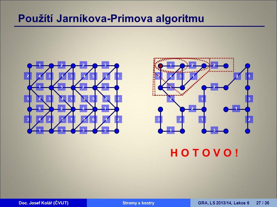 Použítí Jarníkova-Primova algoritmu