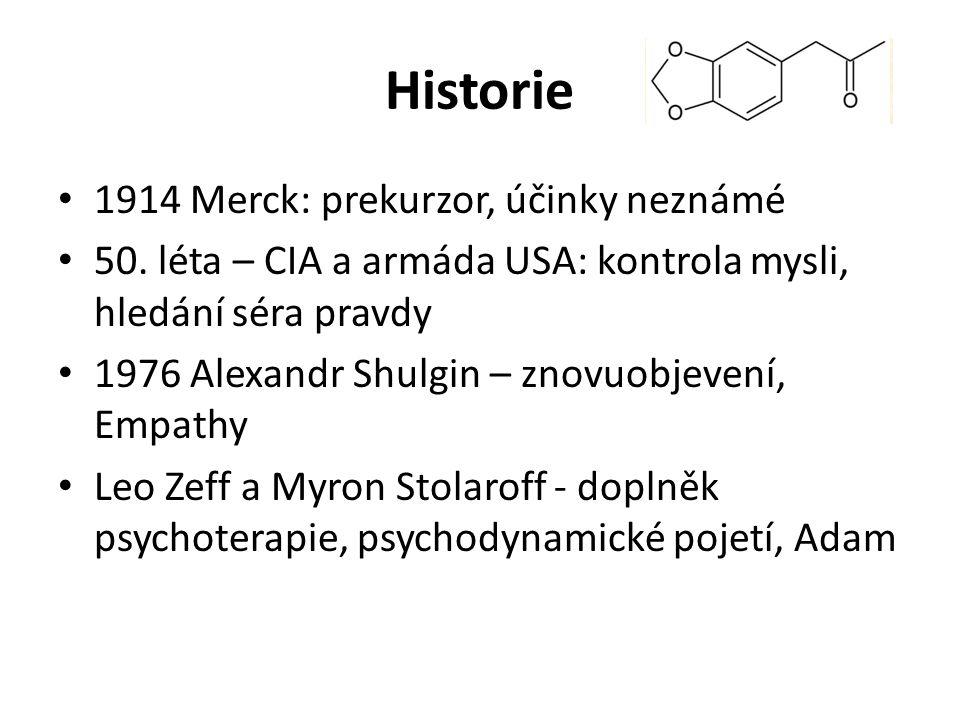 Historie 1914 Merck: prekurzor, účinky neznámé