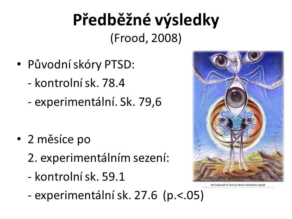 Předběžné výsledky (Frood, 2008)