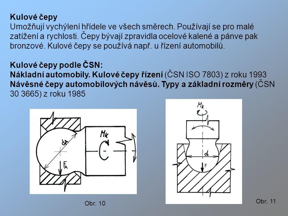 Nákladní automobily. Kulové čepy řízení (ČSN ISO 7803) z roku 1993