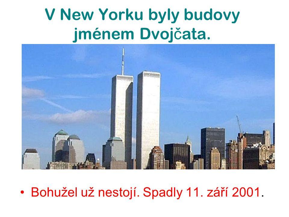 V New Yorku byly budovy jménem Dvojčata.
