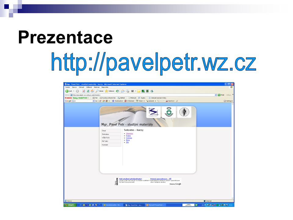 Prezentace http://pavelpetr.wz.cz