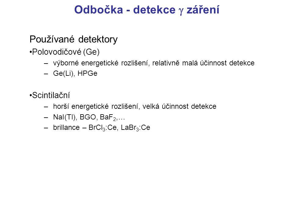Odbočka - detekce g záření