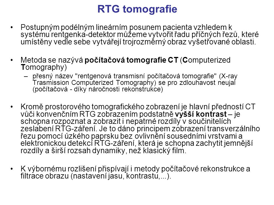 RTG tomografie