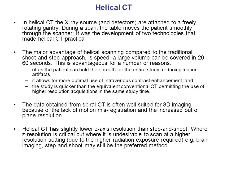 Helical CT