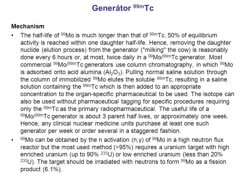 Generátor 99mTc Mechanism