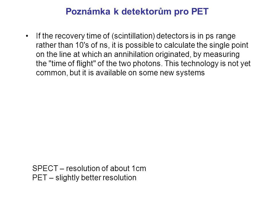 Poznámka k detektorům pro PET