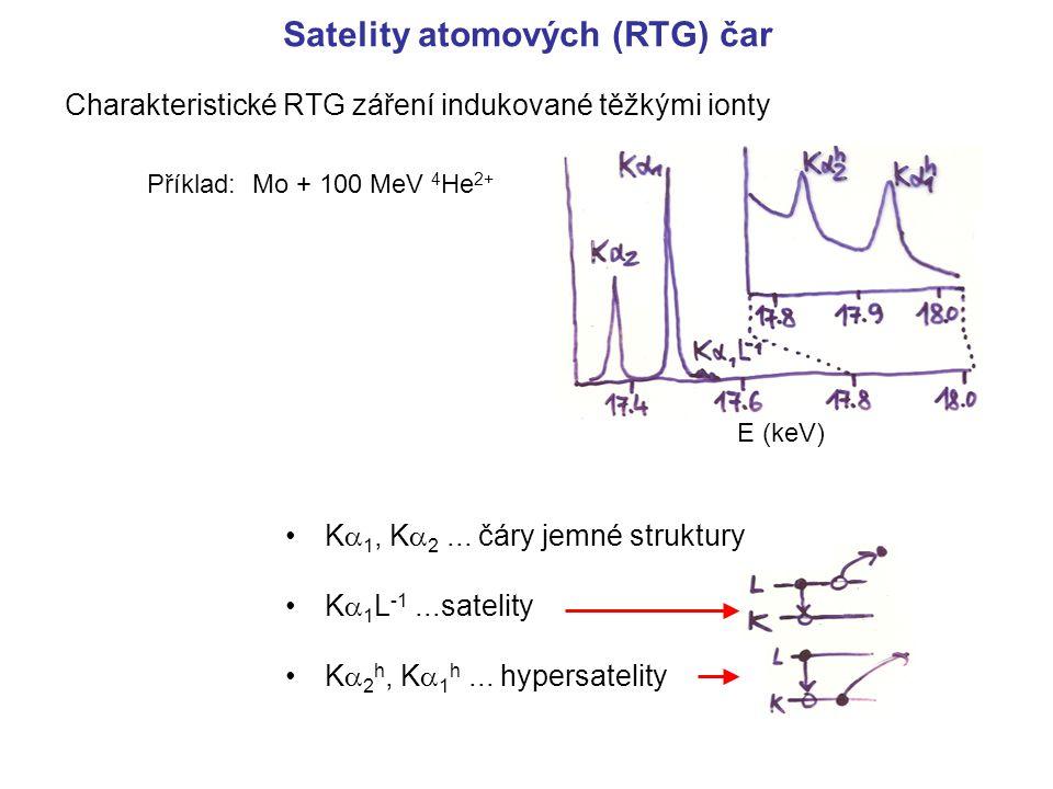 Satelity atomových (RTG) čar