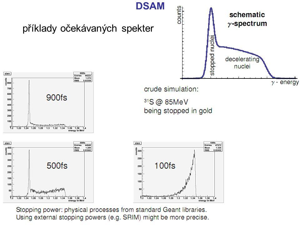 DSAM příklady očekávaných spekter
