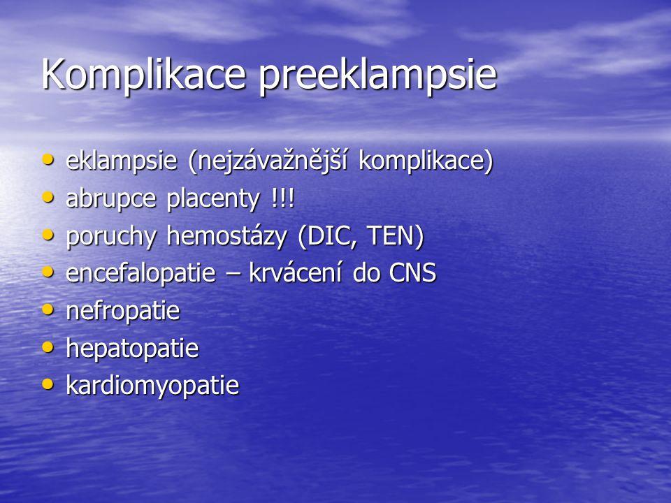 Komplikace preeklampsie
