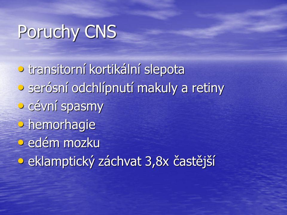 Poruchy CNS transitorní kortikální slepota