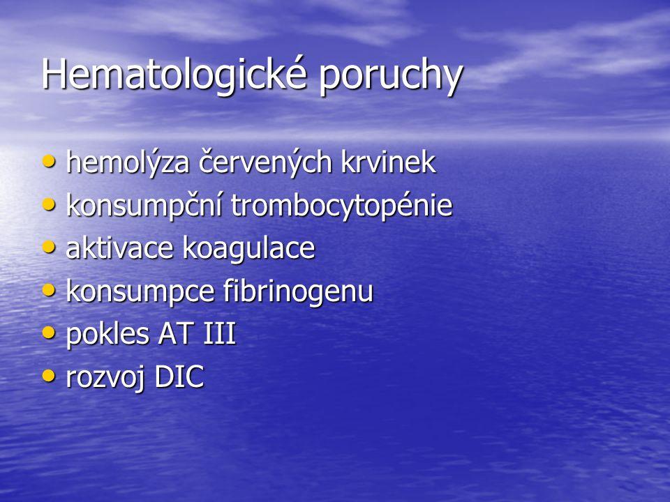 Hematologické poruchy
