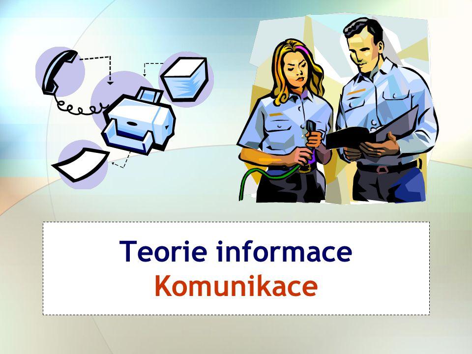 Teorie informace Komunikace