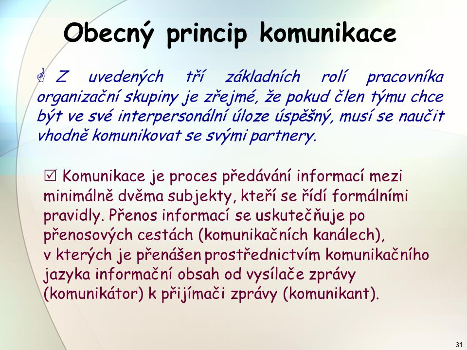 Obecný princip komunikace