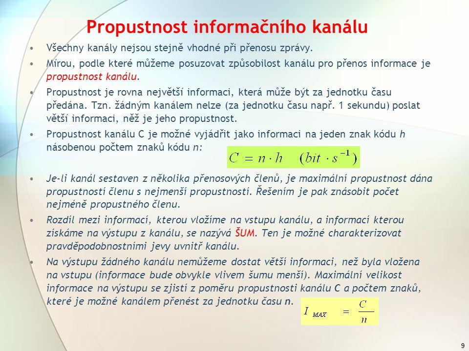 Propustnost informačního kanálu