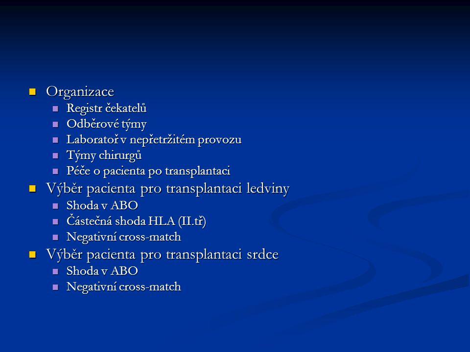 Výběr pacienta pro transplantaci ledviny