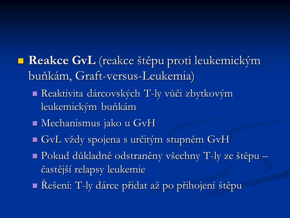 Reakce GvL (reakce štěpu proti leukemickým buňkám, Graft-versus-Leukemia)