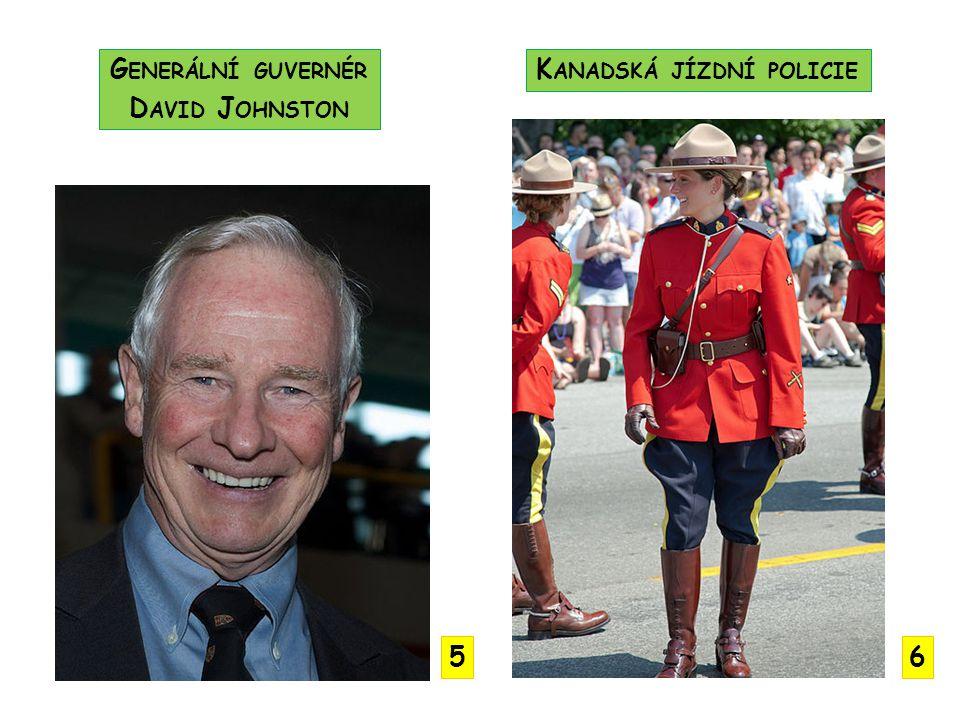 Generální guvernér David Johnston Kanadská jízdní policie 5 6