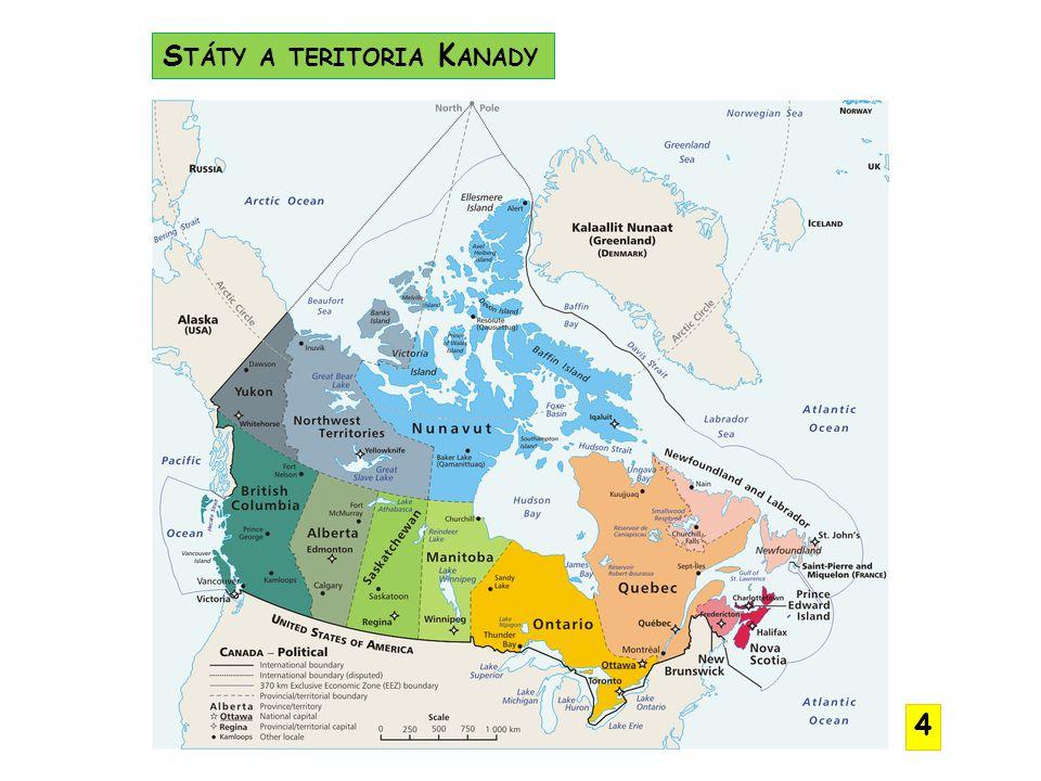 Státy a teritoria Kanady