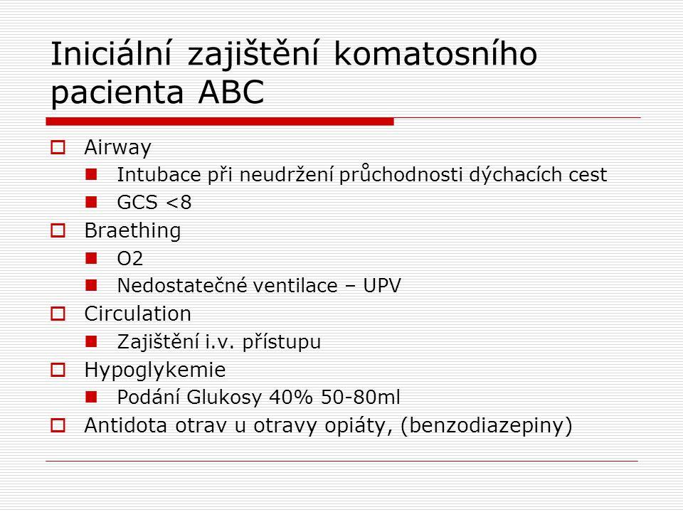 Iniciální zajištění komatosního pacienta ABC