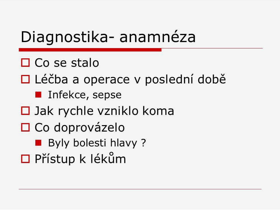 Diagnostika- anamnéza