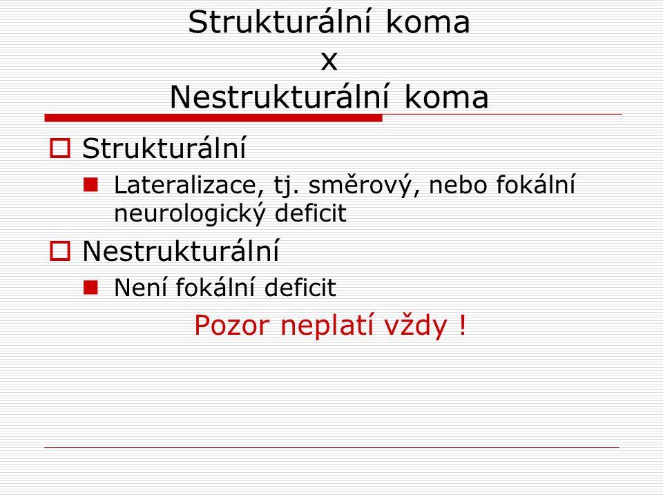 Strukturální koma x Nestrukturální koma